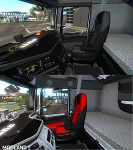 White black carbon detailed DAF XF euro6 interior, 3 photo