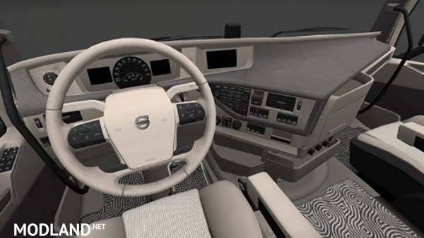 Volvo FH Globetrotter Sleeper and XL Blue Cream Interior ...