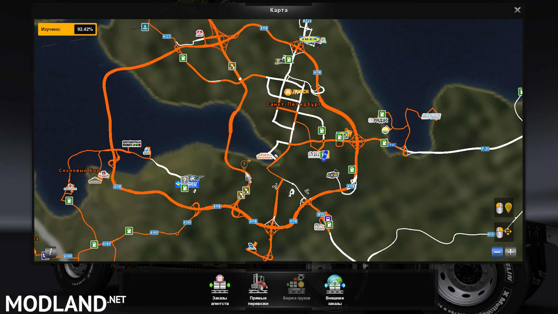 RusMap 1 9 0 1 35 x mod for ETS 2