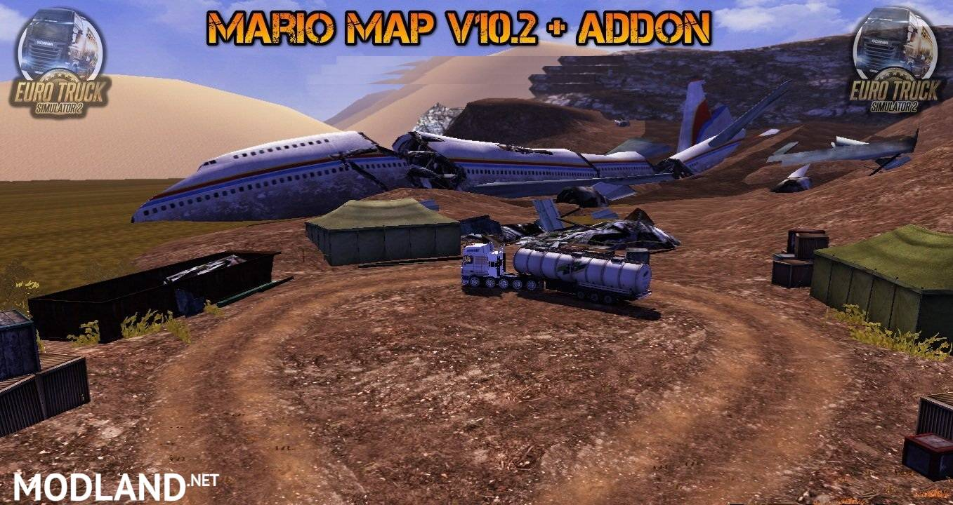 Mario Map v10.2 and Addon mod for ETS 2