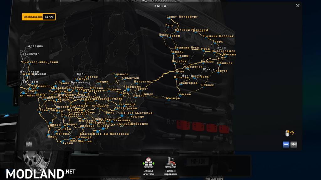 RusMap V Mod For ETS - R us map