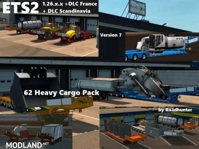 62 heavy cargo pack version 7 1 mod for ets 2. Black Bedroom Furniture Sets. Home Design Ideas