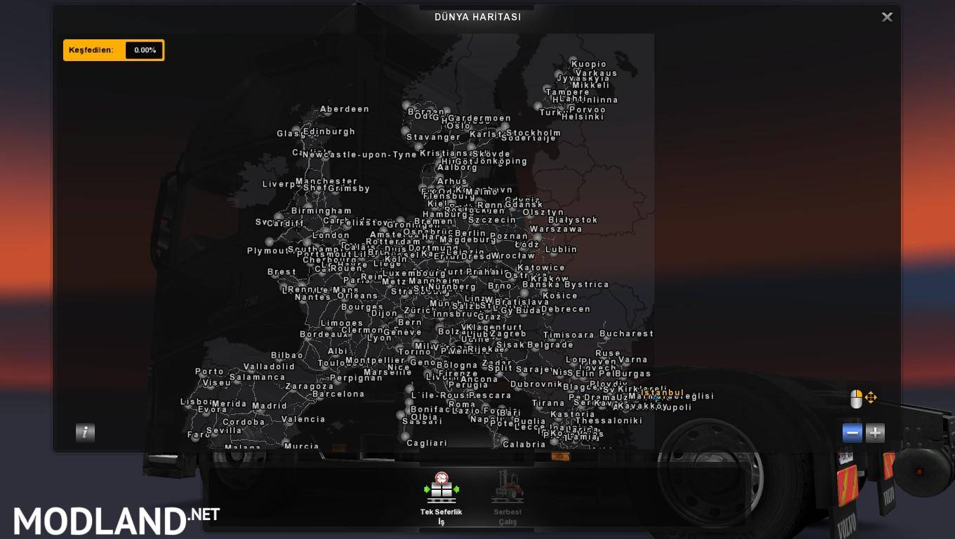 africa map for euro truck simulator 2