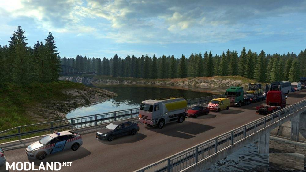 Map Republic of Aloma and Beyond the Baltic Sea 1 35 mod for ETS 2