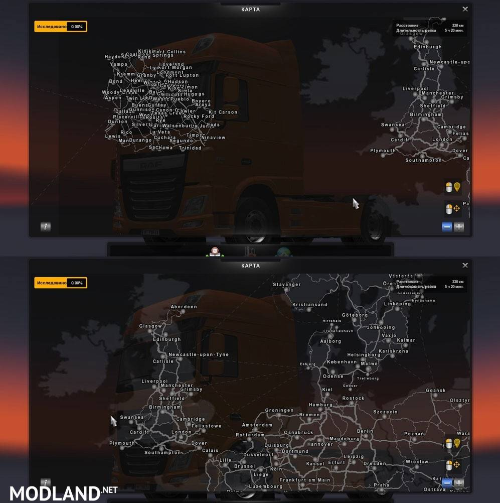 Mario Map Europe America Russia v 116 mod for ETS 2
