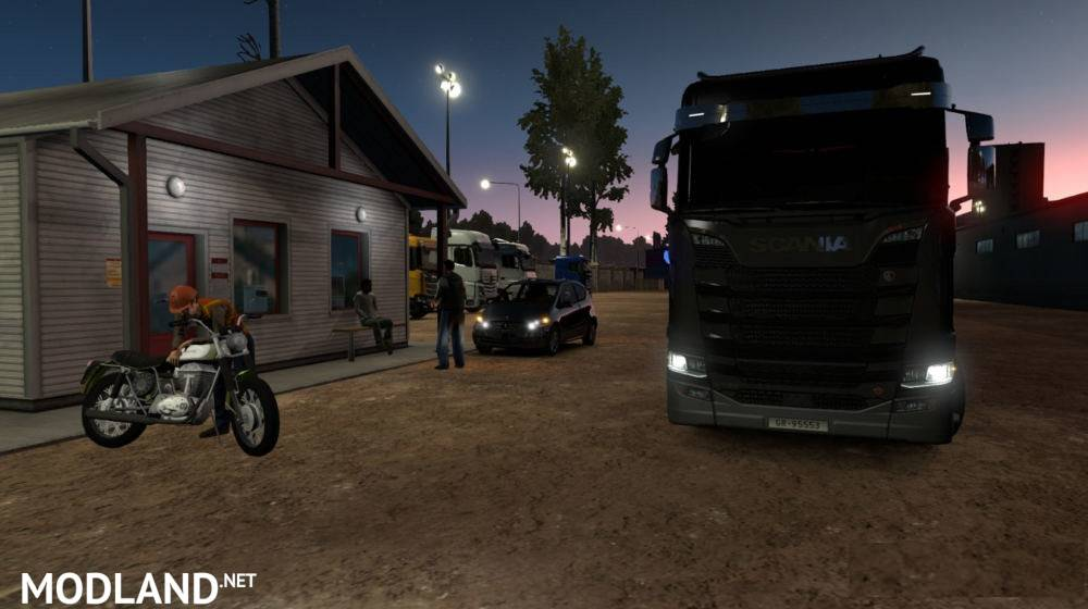 Map Republic of Aloma and Beyond the Baltic Sea 1 34 mod for ETS 2