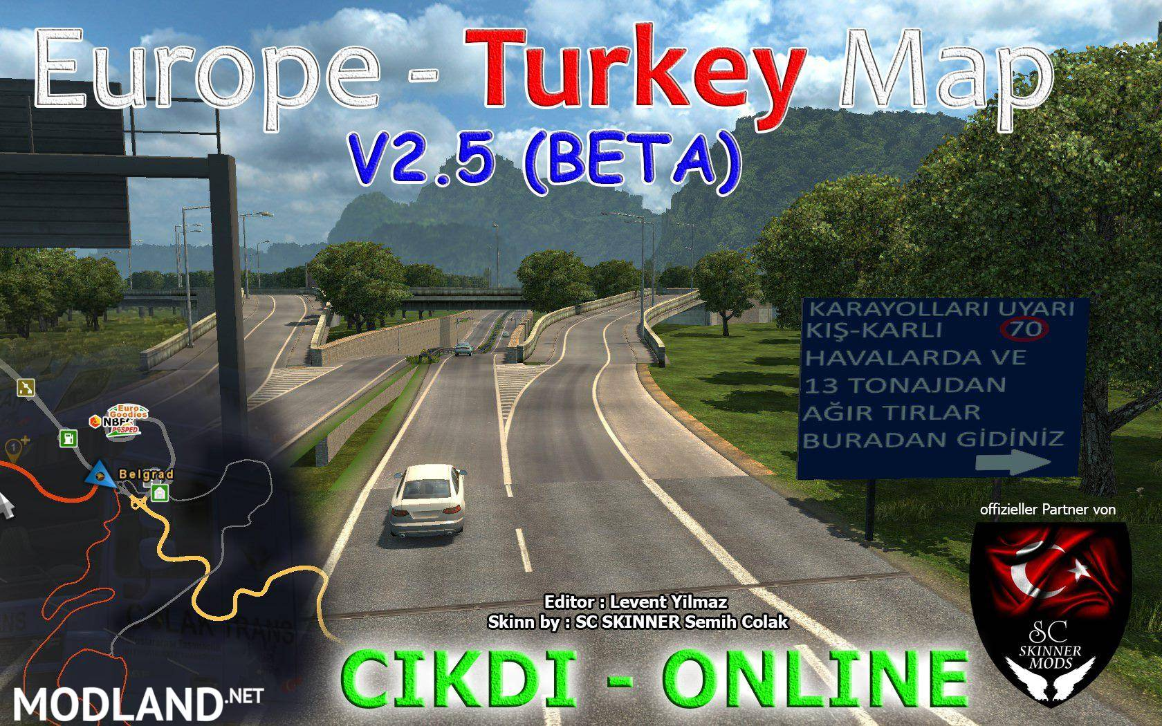 Map Of Europe And Turkey.Europe Turkey Map V2 5 Mod For Ets 2