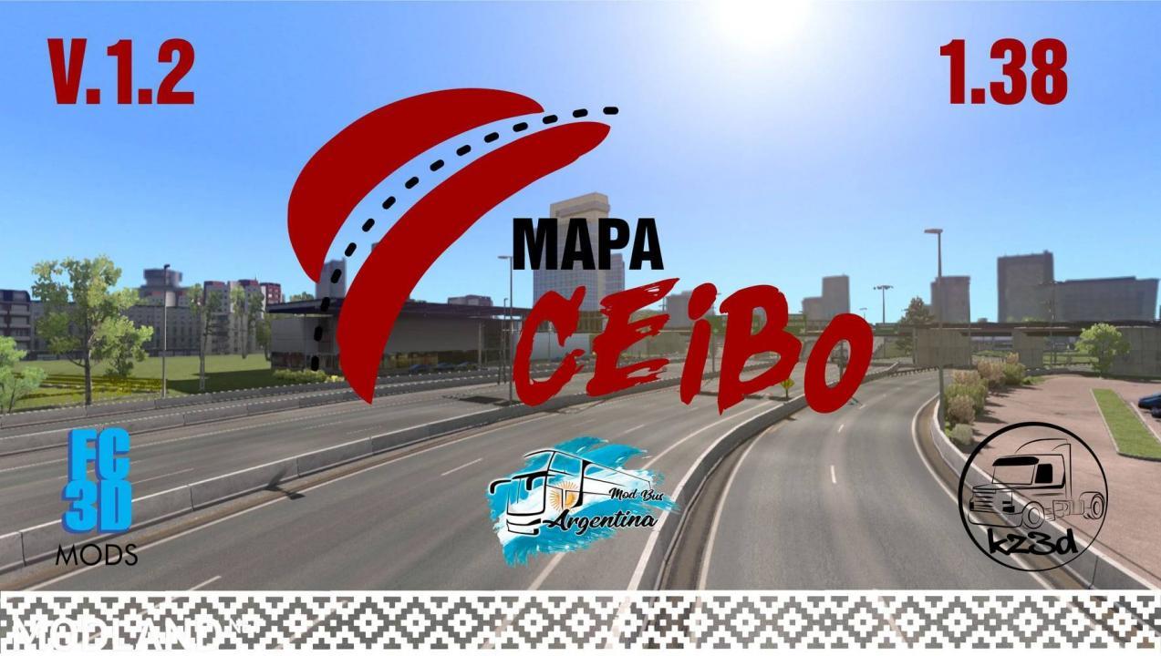 Argentina Map Mod (Map CEIBO V. 1.2) - ETS2 1.38