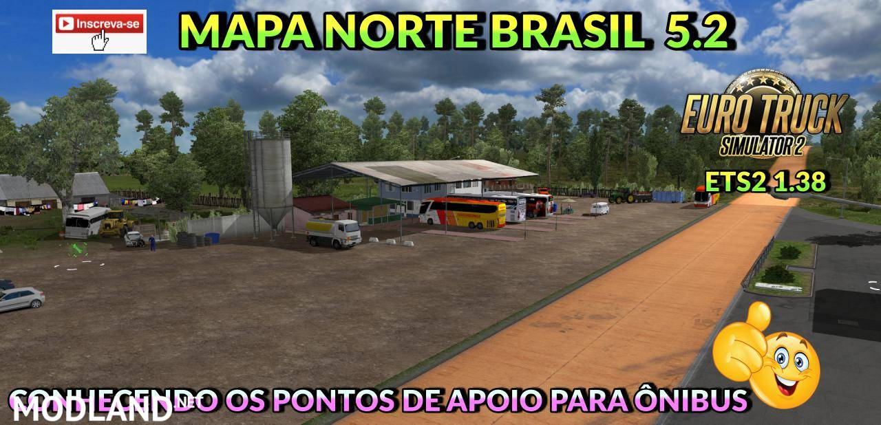 BRAZIL NORTH MAP v5.2 ETS2 1.38