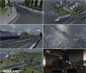 Bridge from Calais to Dover and City on Island v 3.0