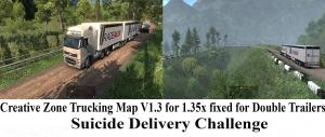 Creative Zone Trucking Map V1.3  for 1.35x fixed for DOUBLE Trailers