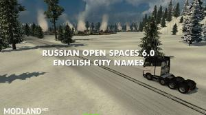 Russian Open Spaces 6.0 English city names, 1 photo