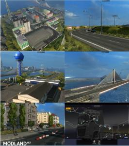 Bridge from Calais to Dover and City on Island v 6.0
