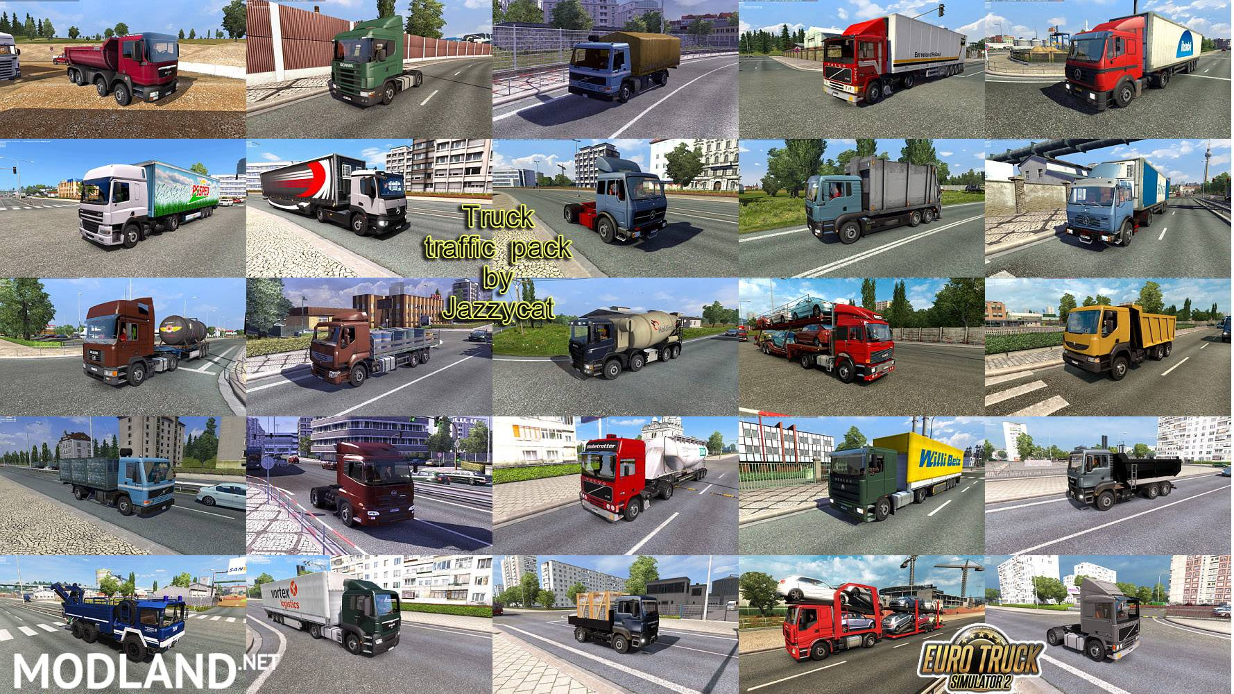 Truck Traffic Pack by Jazzycat v2 8 mod for ETS 2