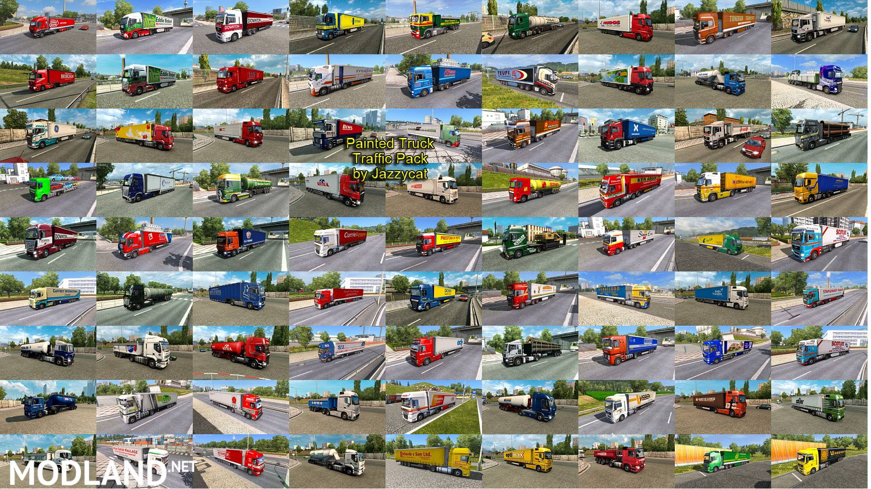 Painted Truck Traffic Pack by Jazzycat v 8 0 mod for ETS 2