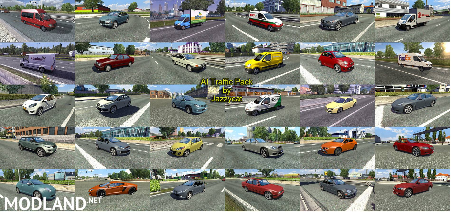 Ai Traffic Pack By Jazzycat V 2 6 Mod For Ets 2