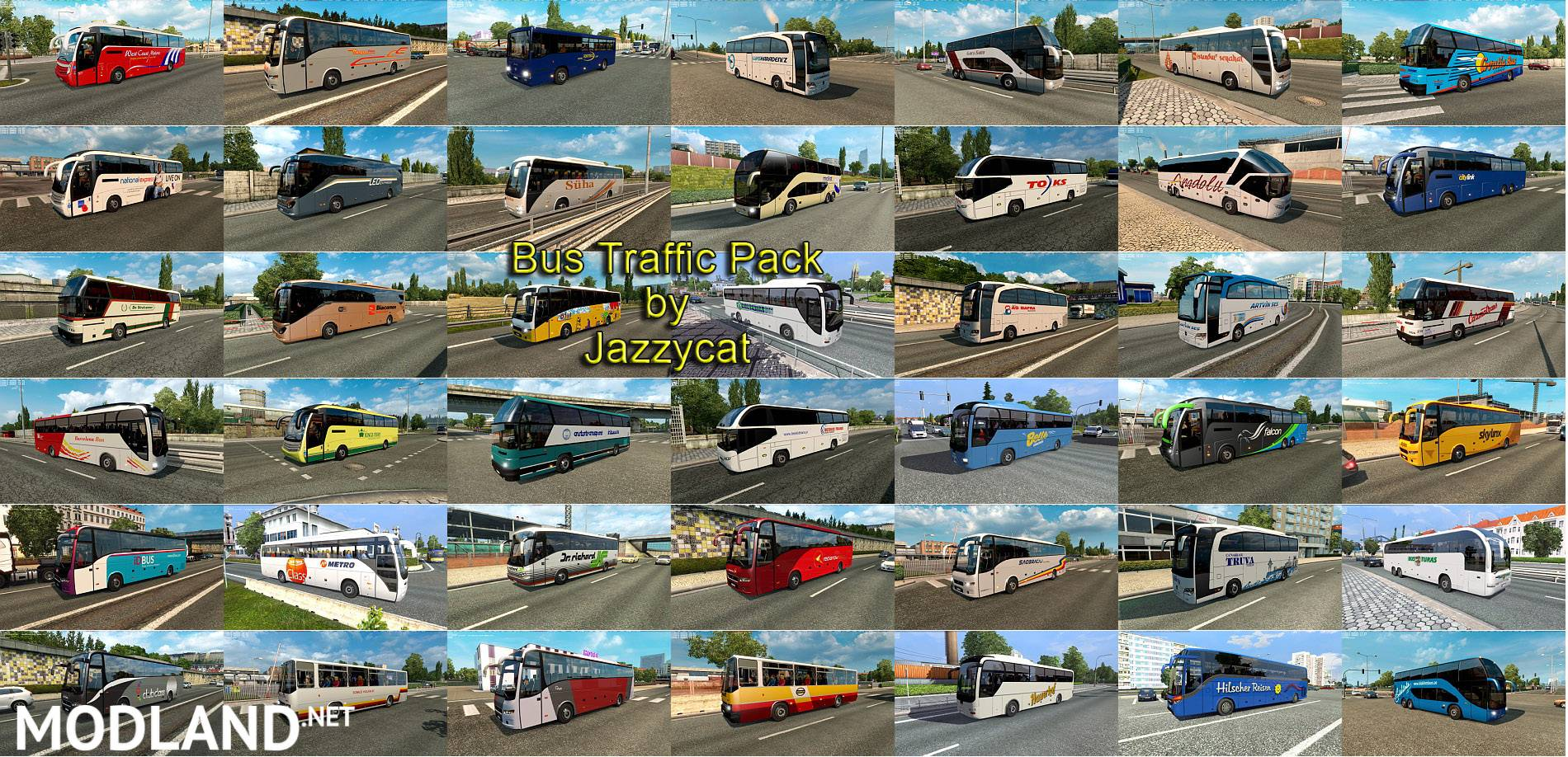Bus Traffic Pack by Jazzycat v3 9 mod for ETS 2