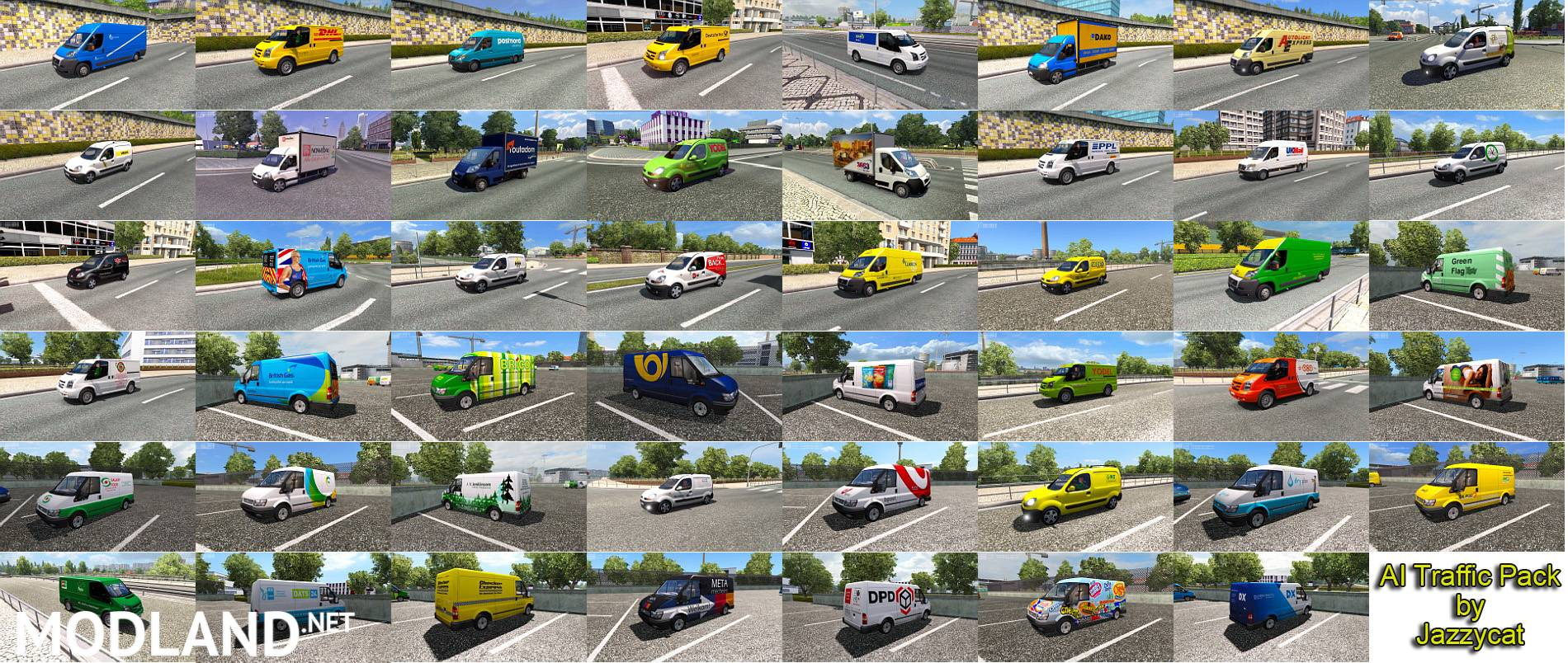 Ai Traffic Pack By Jazzycat V 3 4 Mod For Ets 2