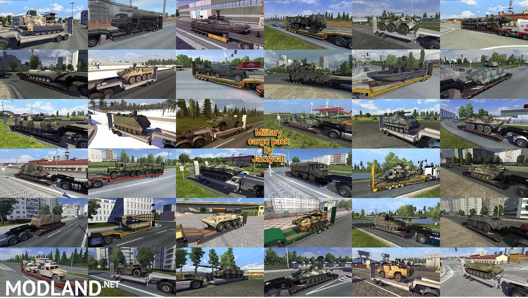 Military Cargo Pack by Jazzycat v 1 6 mod for ETS 2