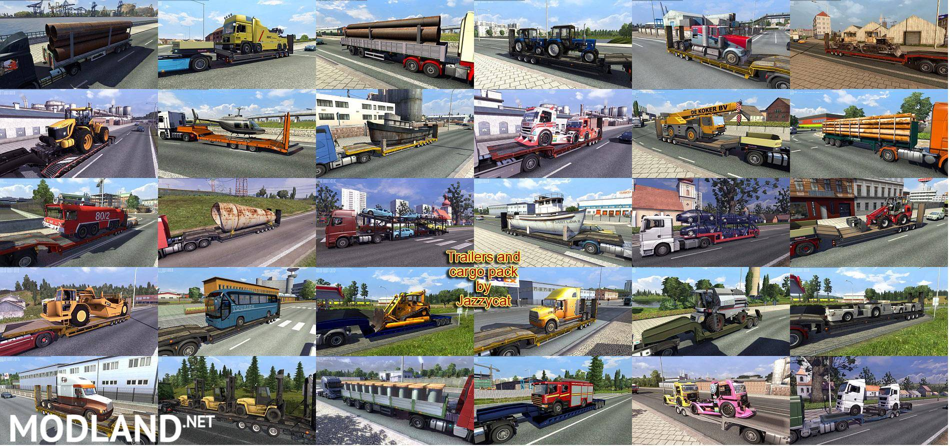 Trailers and Cargo Pack by Jazzycat v 3 4 mod for ETS 2