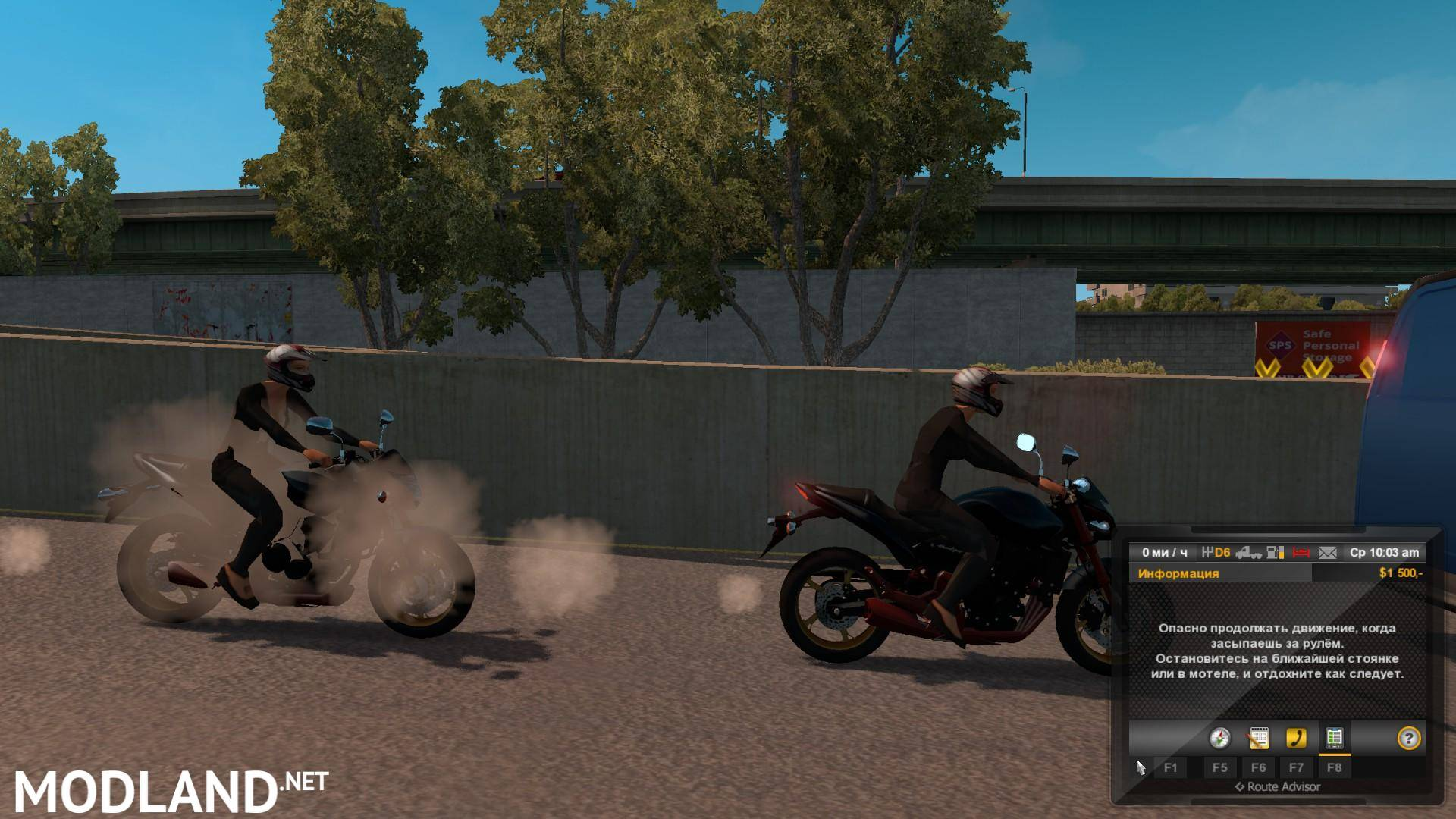 Motor Cycle In Traffic Mod For Ets 2