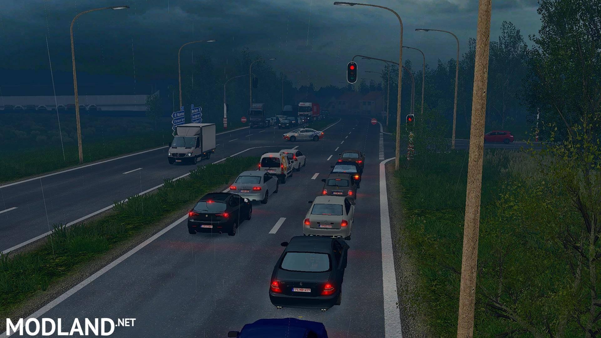 Traffic Density v1 4 1 30 x mod for ETS 2