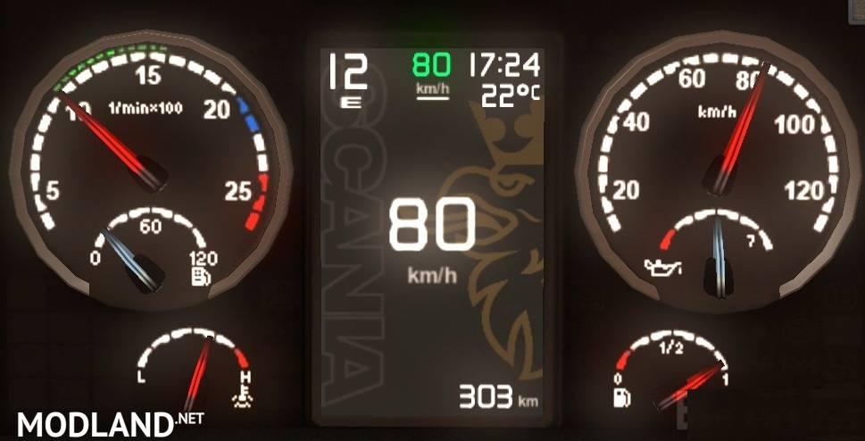 Scania Griffin Custom Dashboard Mod For Ets 2