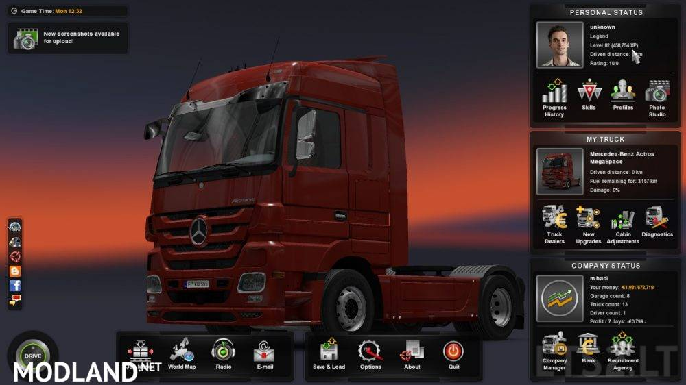 Level & Money profile 1 26 mod for ETS 2