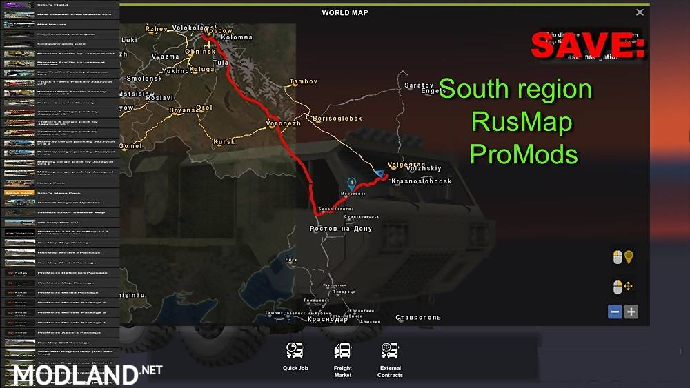 Save South Region Rusmap Promods Mod For Ets 2