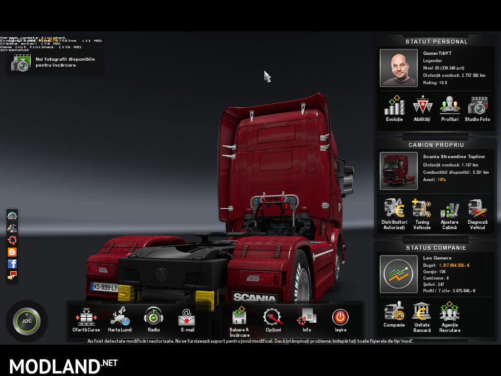 454 drivers in game mod for ETS 2