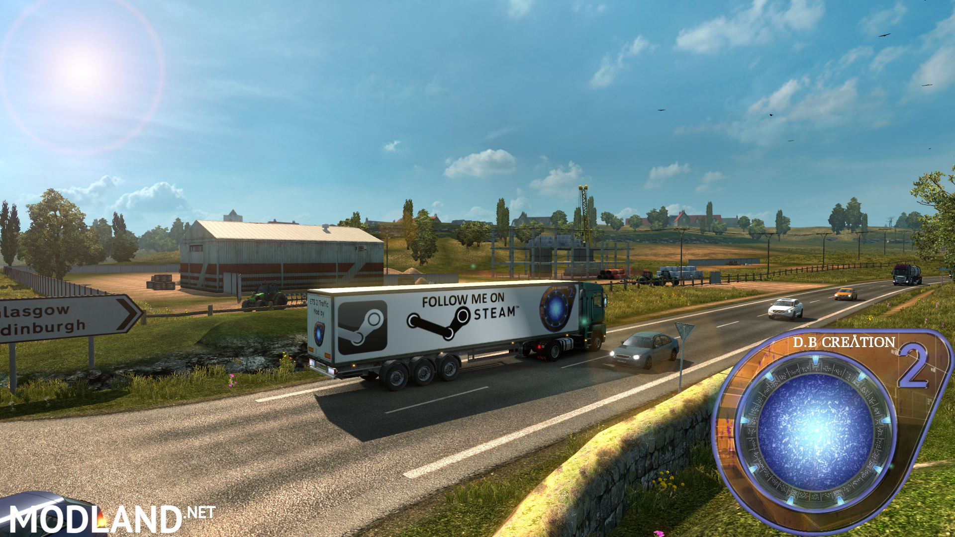 D.B Creation AI Traffic Mod For ETS 2 Ver. 1.19.1s [NEW