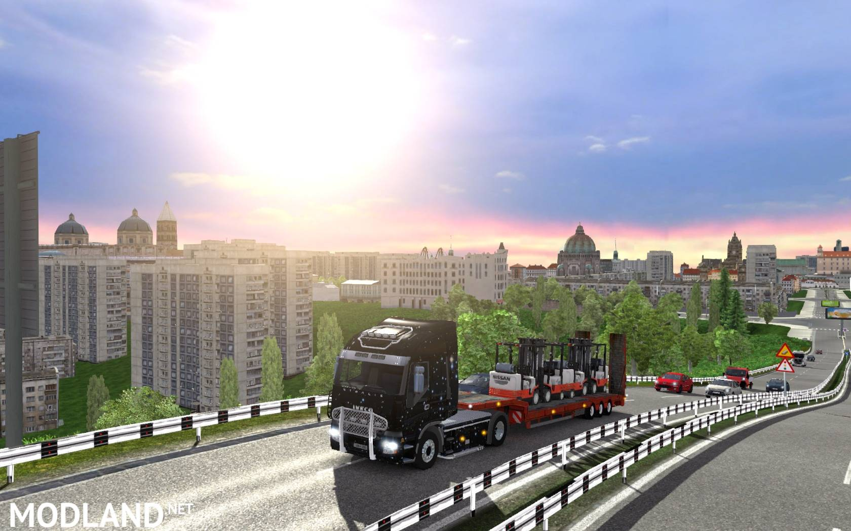 Russian City Names for TruckSim Map 66 beta mod for ETS 2