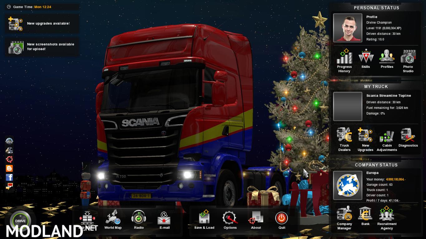 скачать моды на деньги на игру euro truck simulator 2