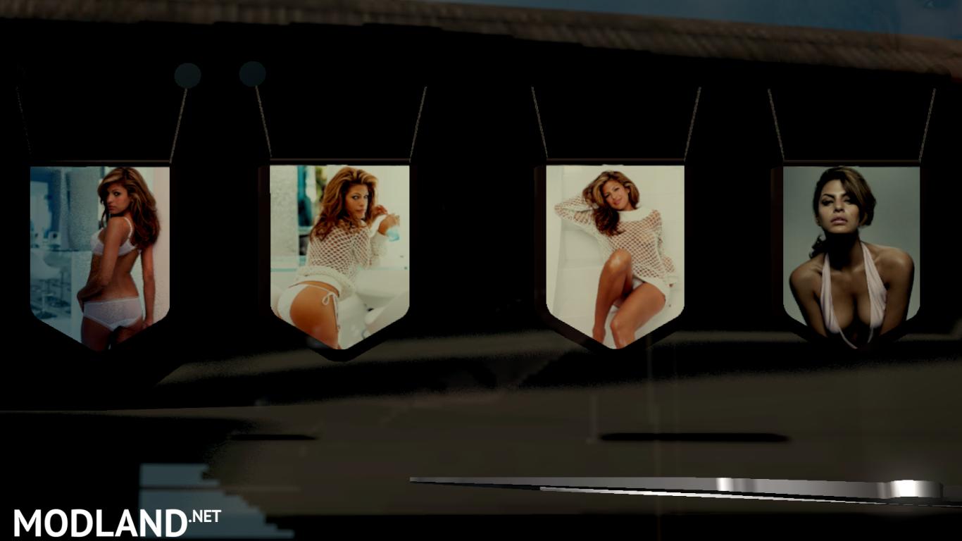 Eva Mendes Pennants Pack Mod For Ets 2