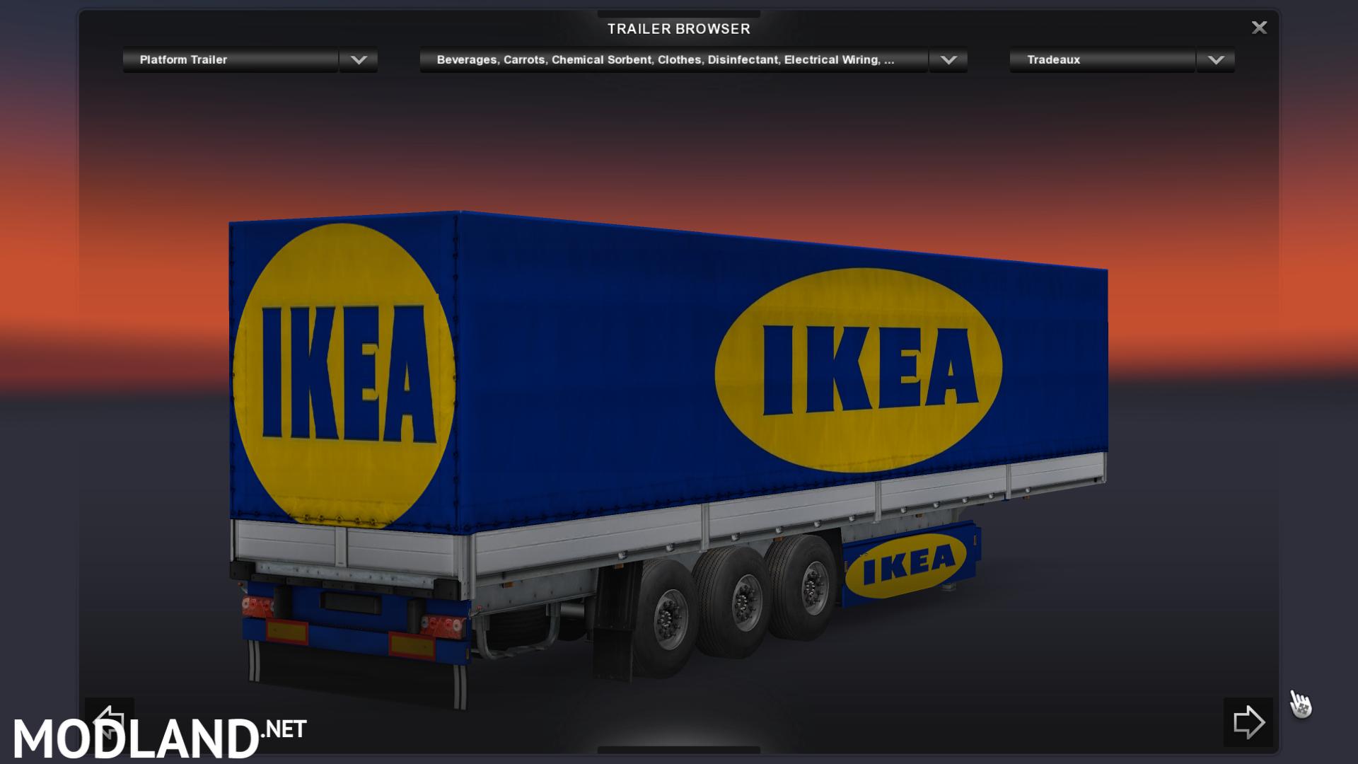 Ikea trailer mod for ets 2 Ikea simulation