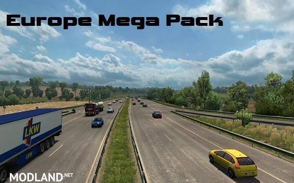 Europe Mega Pack V 1.55 mod for ETS 2