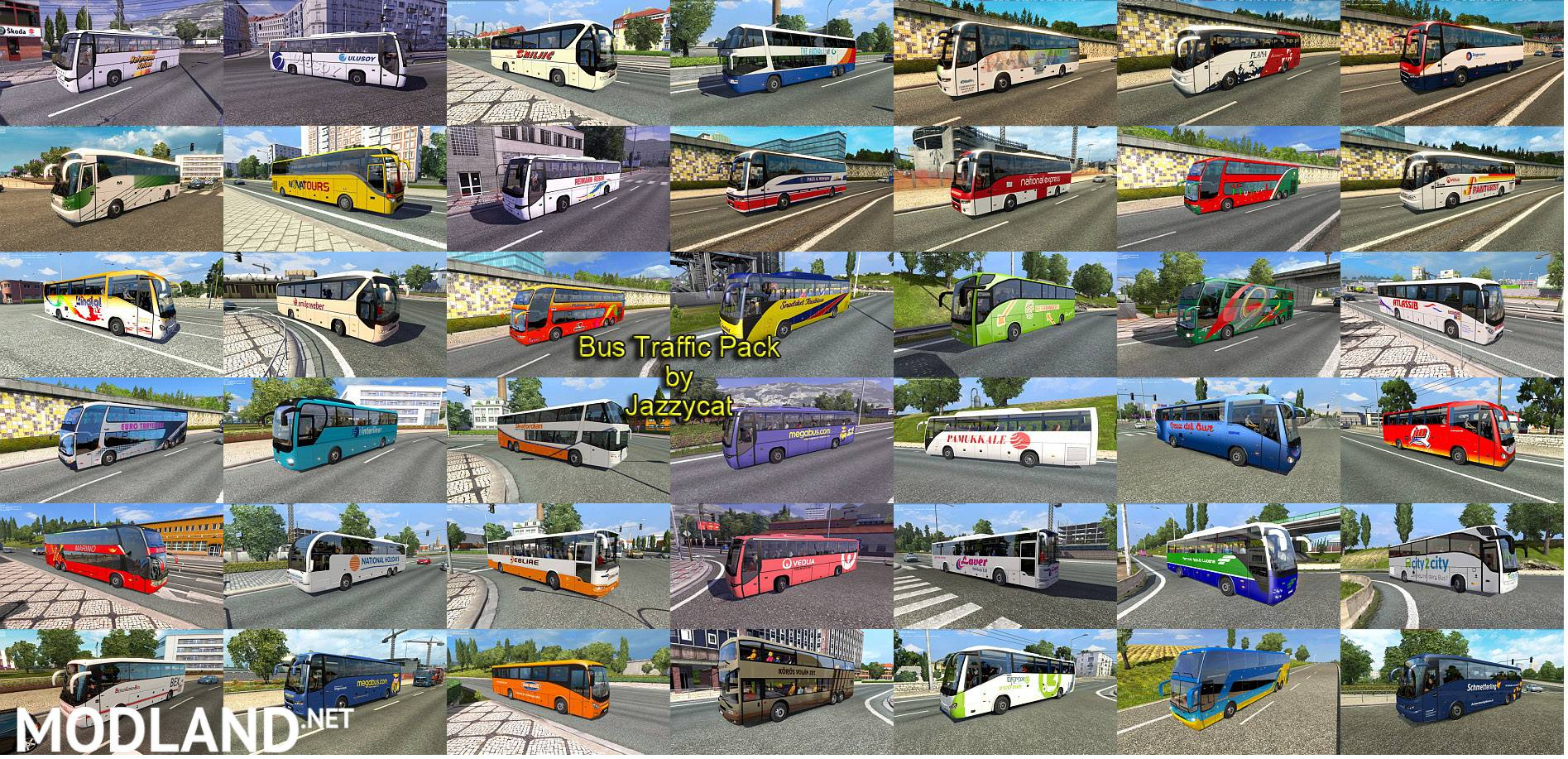 Bus traffic pack by Jazzycat v 1 3 1 mod for ETS 2
