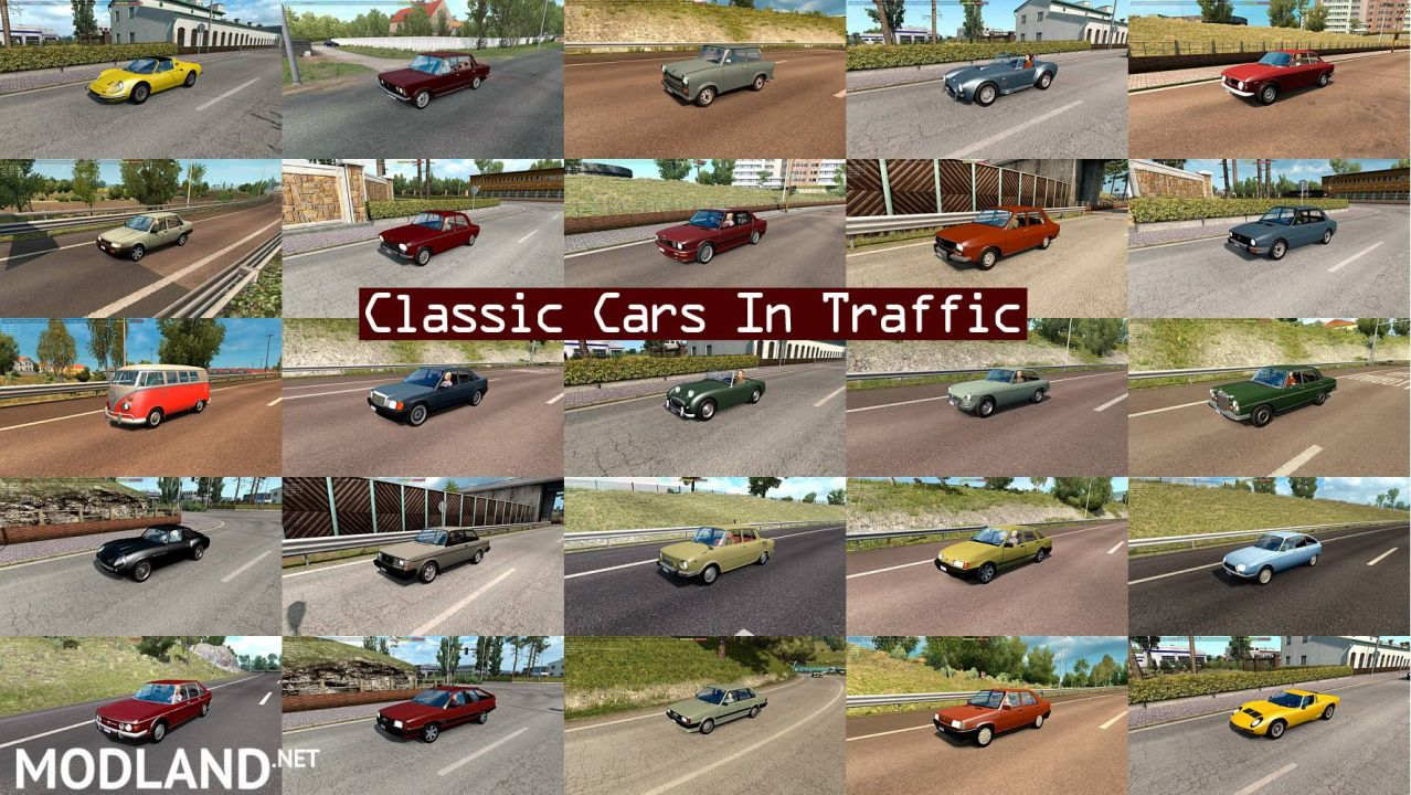 Classic Cars Traffic Pack by TrafficManiac