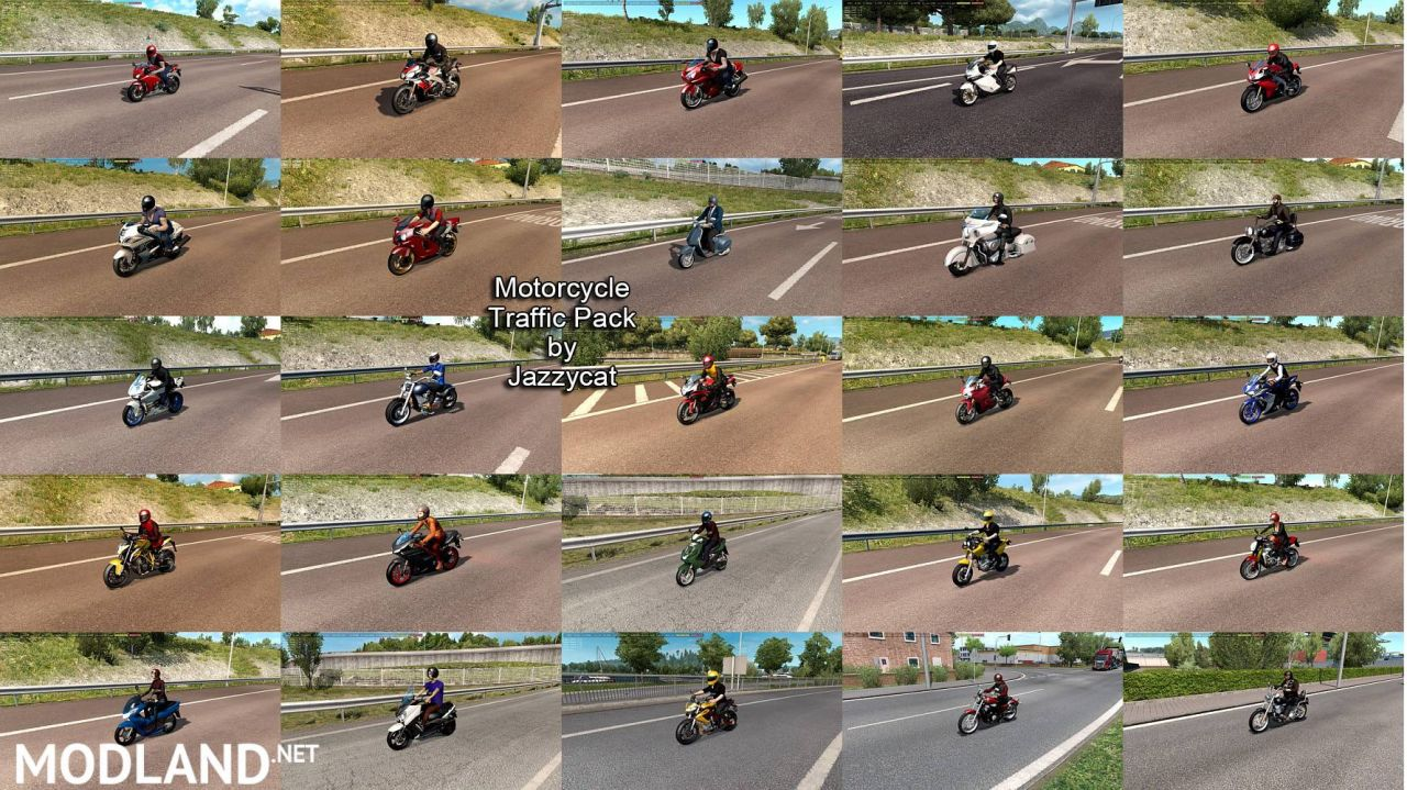 Motorcycle Traffic Pack by Jazzycat