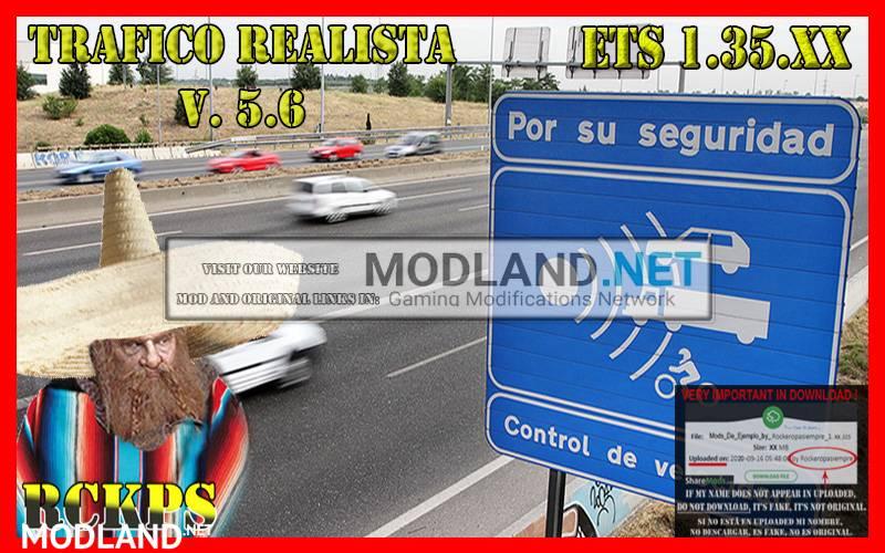Realistic traffic 5.6 by Rockeropasiempre for v 1.35.x