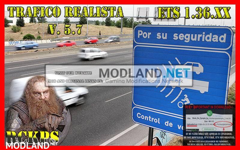 Realistic Traffic v 5.7 For 1.36.x