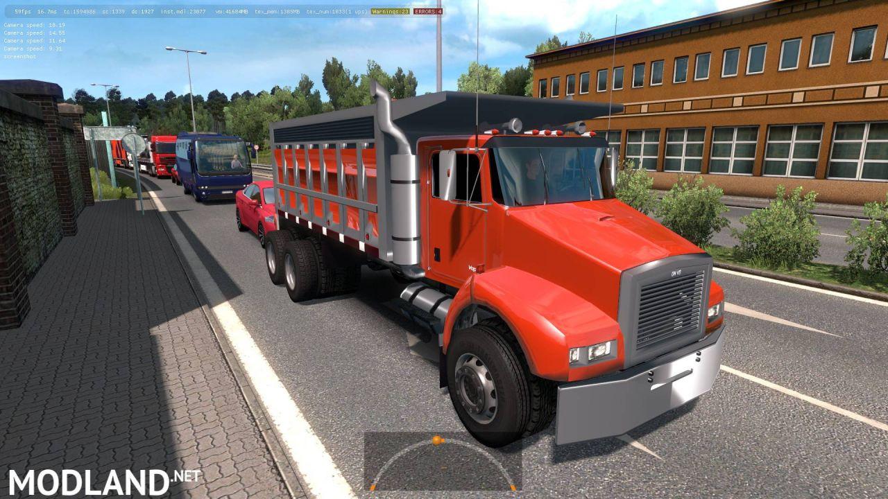 Benson V8 dump truck from GTA4 in traffic 1.35