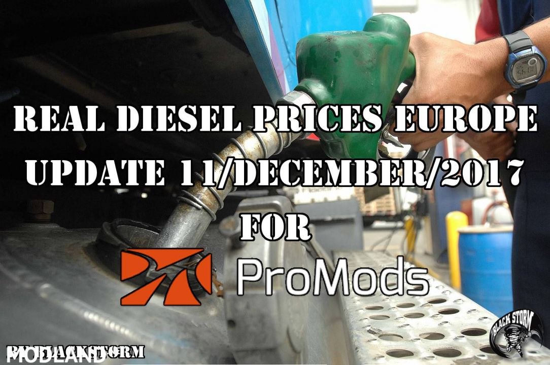 Real Diesel Prices for Europe for Promods 2.25 (Date: 11/12/2017)