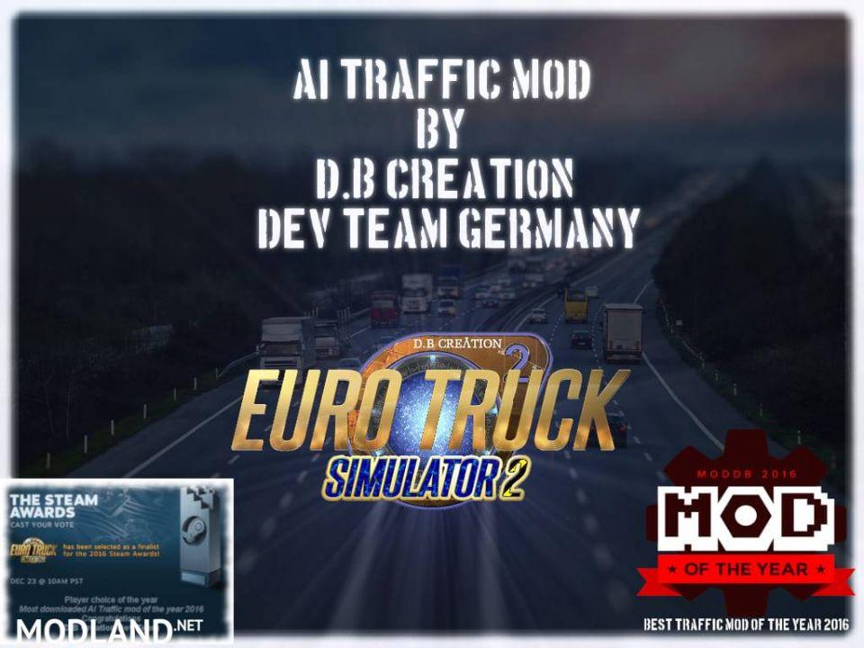 D.B Creations | Real Traffic Intensity & Behavior Mod | 1.37 | 2020
