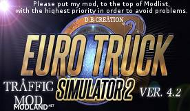D.B Creation AI Traffic Mod 4.2 for ETS 2 Ver. 1.19.2s [UPDATED]