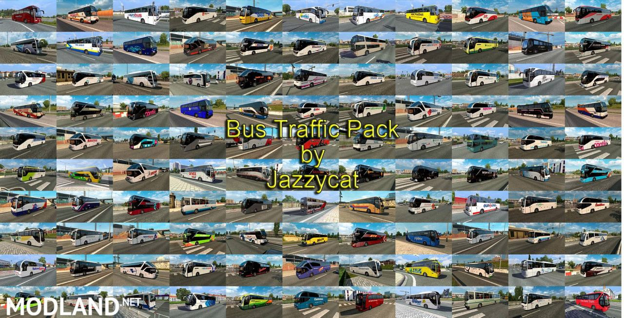 Bus Traffic Pack by Jazzycat
