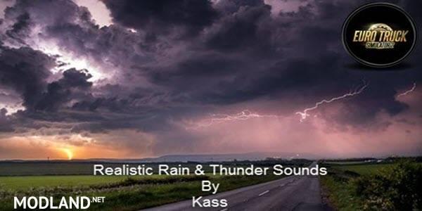 Realistic Rain & Fog & Thunder Sounds V1.3 ATS 1.34,1.35