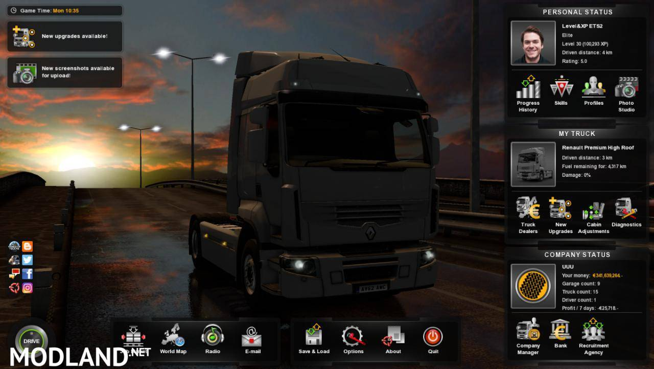euro truck simulator 2 save game level 30 download