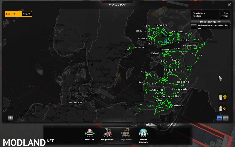 Undiscovered Roads for ETS2 v1 33 x mod for ETS 2