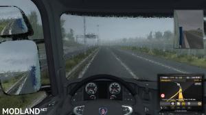 Realistic Rain v2.4 ETS2 1.34, 1.35, 1 photo